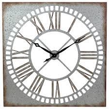 Decorative Metal Wall Clocks Ashbury Square Metal Wall Clock Industrial Wall Clocks By