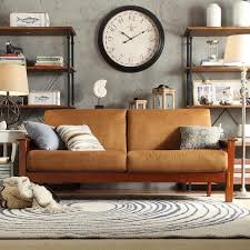 mesmerizing brown wooden foam mission style sofa foam couch
