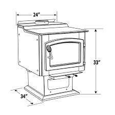 vogelzang ponderosa wood burning stove with blower tr007