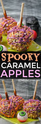 halloween caramel apples in the kids u0027 kitchen