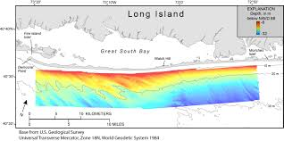 New York Islands Map by Maps Showing Bathymetry And Modern Sediment Thickness On The Inner