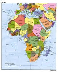 the map of africa africa political map 1995