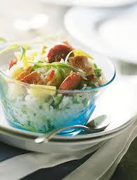 cuisiner du riz blanc recette salade jambalaya
