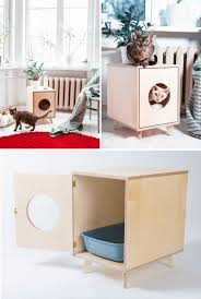 modern litter box cabinet 10 ideas for hiding your cat litter box contemporist