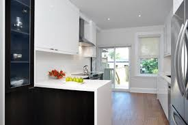 Downtown Row House Renovation Contemporary Kitchen Toronto - Row house interior design