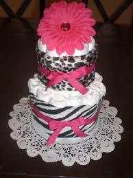 babyshower cakes pink and zebra print zebra and leopard