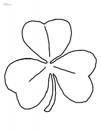 shamrock printable template large shamrock template