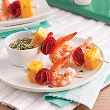 cuisine crevette mini brochettes aux crevettes mangue et chorizo recettes