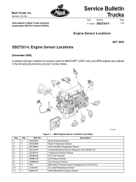 mack truck sensor locations on mack images tractor service and