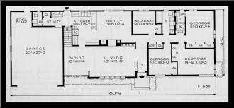 1950s house floor plan home plans