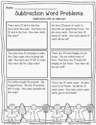 subtraction word problems subtraction word problem with unknown free second