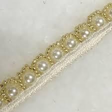 pearl lace bridal beaded pearl trim hairband bridal belt edge trimmings