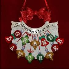 Grandparent Ornaments Personalized 3 Darling Grandkids Grandparents Ornament