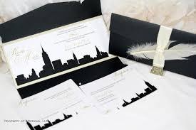 wedding invitations nyc new york skyline wedding invitation city empire state