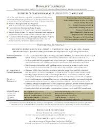 Executive Level Resume Samples by Sample Resume Business Operations Manager Augustais