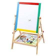 bureau tableau enfant tableau magnétique blanc et noir 2en1 pour enfants chevalet