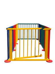 baby child foldable playpen colorful room divider wooden 8 side