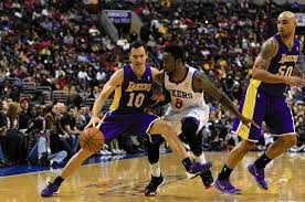nash turns 40 scores 19 in lakers u0027 win over sixers