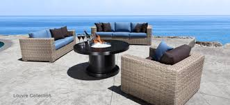 Outdoor Furniture Toronto by Louvre Patio Furniture Drift Teak Wicker Conversation Set With