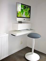 Laptop Desk Stand Ikea by Create A Small Floating Imac Workspace With Ikea Shelves Ikea