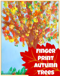 finger print autumn trees fall activities for our
