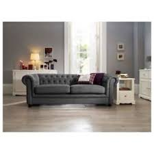 grey chesterfield sofa quality chesterfield sofa 3 2 seater sofa in grey fabric