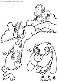 blues clues dog cat coloring dog cat coloring pages