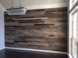 Dining Room Floor by Close Up Of The Dining Room Reclaimed Wood Accent Wall Before The