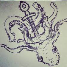 octopus anchor tattoo sketch photos pictures and sketches