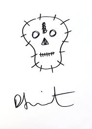 snoopy u0026 skulls peanuts cartoon and damien hirst sketch at
