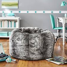 Pottery Barn Kids Bean Bag Chairs Gray Ombre Faux Fur Beanbag Pbteen