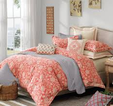 coral comforter set delectably yours decor shell island coral