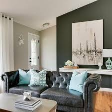 Black Leather Sofa Design Ideas - Living room decor with black leather sofa
