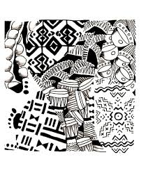 africa symbols africa coloring pages for adults justcolor