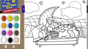 good night coloring book the good night show sprout
