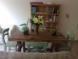Kitchen Inspiring Rustic Dining Room Decoration With Rectangular - Cool kitchen tables