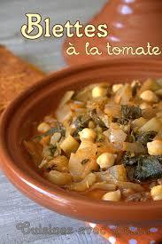cuisiner blettes recette de blettes à l algérienne blette sauce et légumes