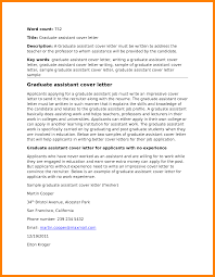 letter assistantship