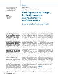 G Stige Sch E K Hen Das Image Von Psychologen Psychotherapeuten Und Psychiatern In