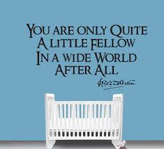 Wall Decal Quotes For Nursery by Little Fellow Quote Wall Decal Fantasy Nursery Geek Geekery