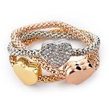 silver rose gold plated bracelet images 18k gold silver rose gold plated bracelet eyeconicwear jpg