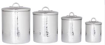 White Kitchen Canister Old Dutch Hammered 4 Piece Kitchen Canister Set U0026 Reviews Wayfair