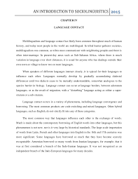 chapter iv language contact