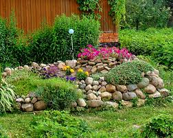 river rock flower beds houzz in rock flower beds pertaining to