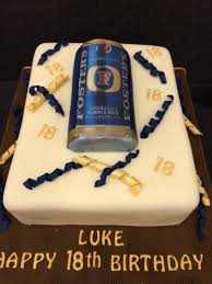beer can cake fosters can 18th birthday cake the sugar smith