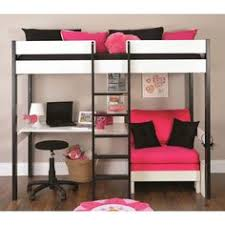 Loft Bed With Futon Liberty Futon Bunk Bed Frame Unfinished Solid Wood Futon Bunk