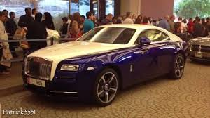 rolls royce dark blue 2014 rolls royce wraith in two tone blue white youtube