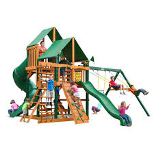 gorilla playsets great skye i with timber shield and deluxe green