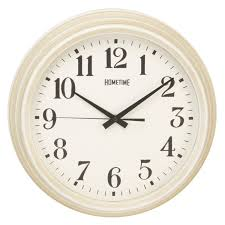 large deep case ridge porthole wall clock cream