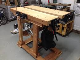 adjustable height split top workbench by mattnc lumberjocks